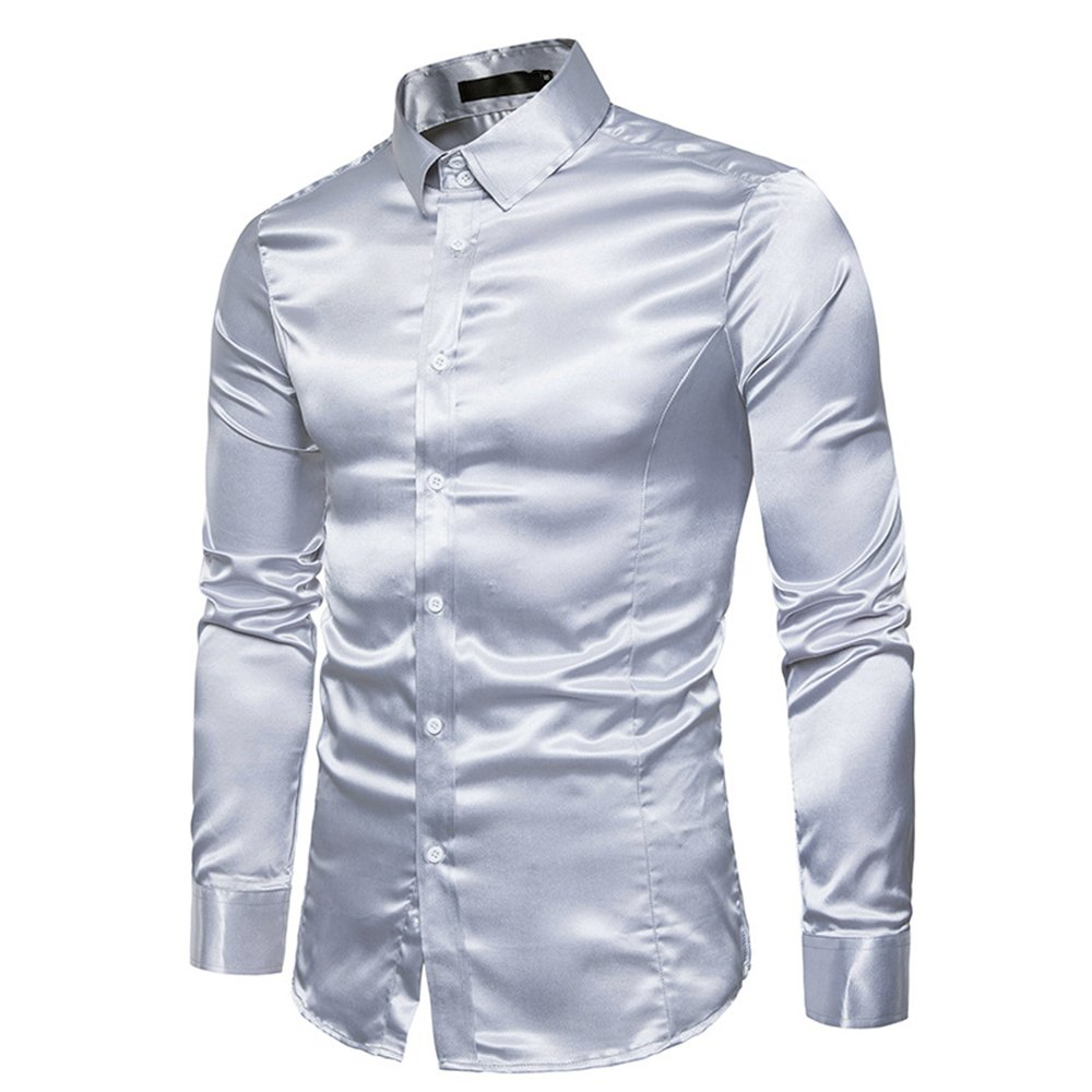 23697394 We use this fiber to make this dress shirt, it can make your skin  comfortable. Features:long sleeves, lapel, button-down closure, slim fit,  comfortable, ...