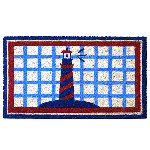 Rubber-Cal Lighthouse on the Cape Cod Doormat, 18 by 30-Inch (Cape Cod Door Mats Patio)
