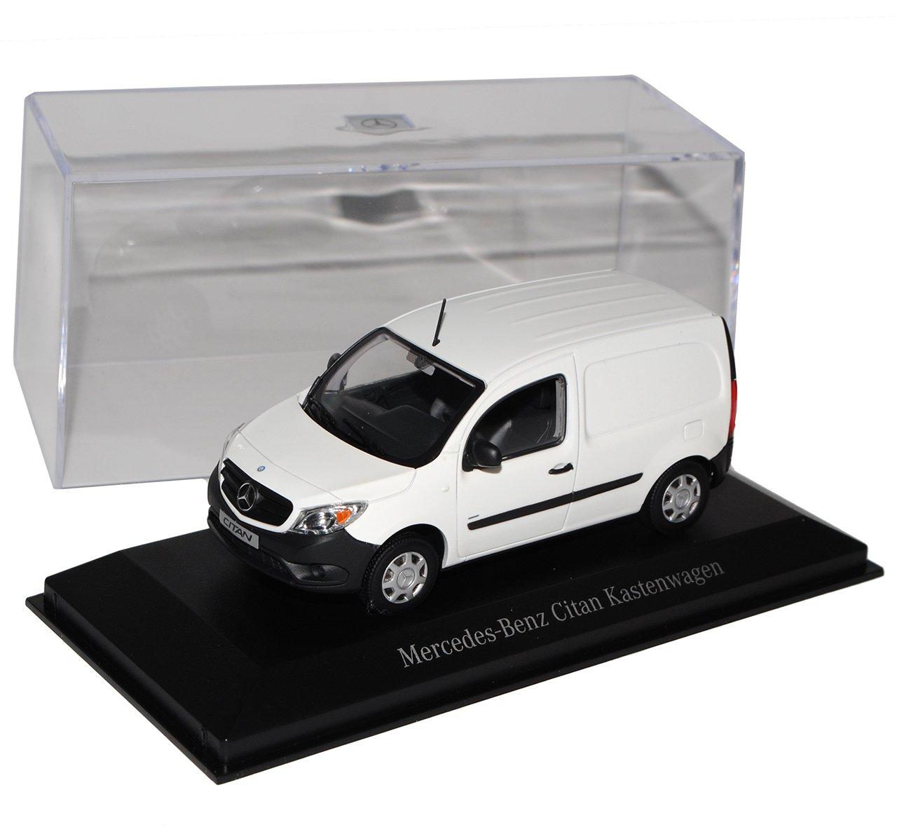 Minichamps Mercedes-Benz Citan W415 Kasten Transporter Weiss Ab 2012 1/43 Modell Auto mit individiuellem Wunschkennzeichen