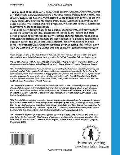 Prenatal Classroom: A Parents Guide to Teaching Their Unborn Child: Amazon.es: F. Rene Van de Carr, Marc Lehrer: Libros en idiomas extranjeros