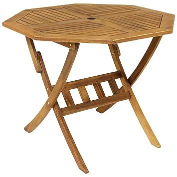 Bentley Garden - Mesa de madera octogonal plegable para jardín ...