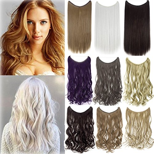 le Wire No Clips in Synthetic Hair Extensions Secret Fish Line Hairpiece ()