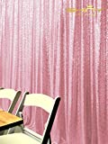 ShinyBeauty-Sequin-Curtain-Backrop-12FTx12FT-Blush Pink, Glitz Photography Background, Fast Shipping!