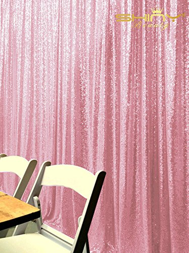 ShinyBeauty-Sequin-Curtain-Backrop-12FTx12FT-Pink, Glitz Photography Background, Fast Shipping!