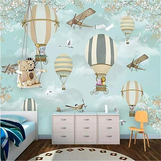DXBH 3D mural grande HD dibujos animados infantiles papel avión ...