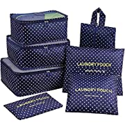 Mossio 7 Set Packing Cubes with Shoe Bag – Travel Carry On Luggage Organizer