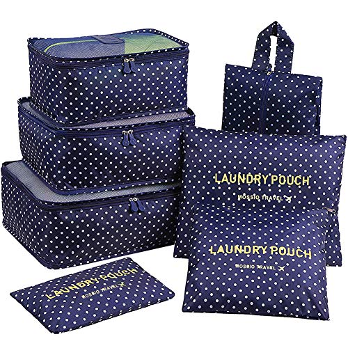Mossio 7 Set Packing Cubes With Shoe Bag