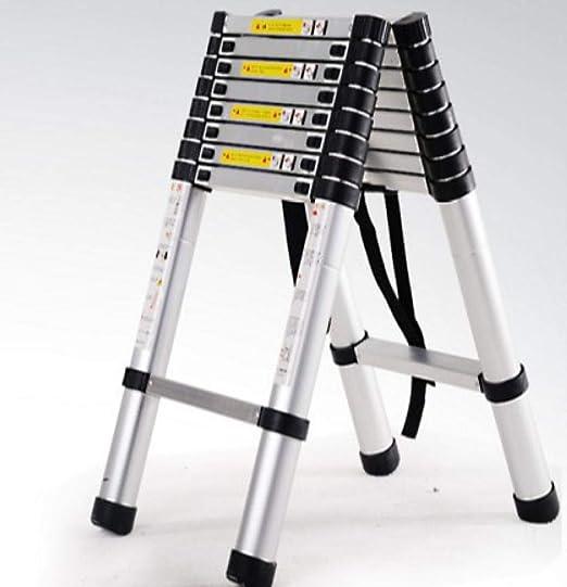 TAYIBO escaleras Plegables Aluminio,Escalera para el hogar, Plegable de Aluminio Multifuncional de Espesor Grueso, ingeniería de Doble propósito-Multifuncional 1.6 Metros: Amazon.es: Hogar