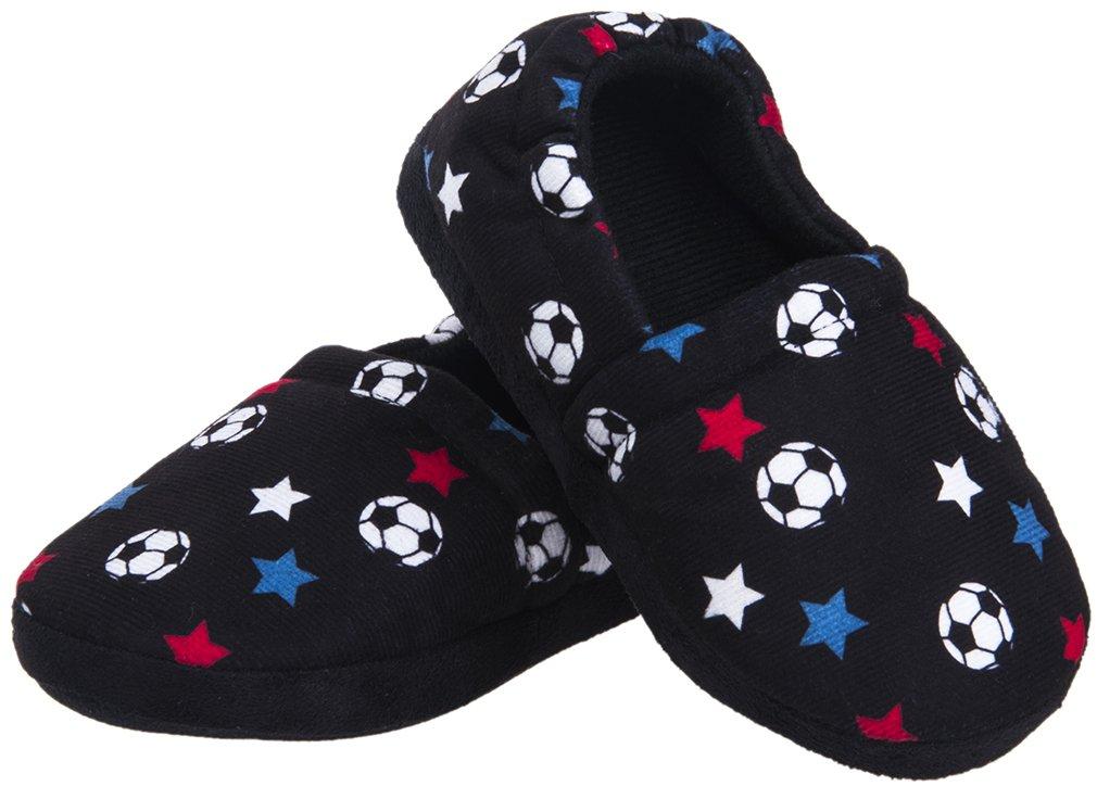 Festooning Toddler Boy Kid Slippers Cozy Comfy Indoor Slip-On Anti-Slip Sole House Shoe Fest0045G-13/1