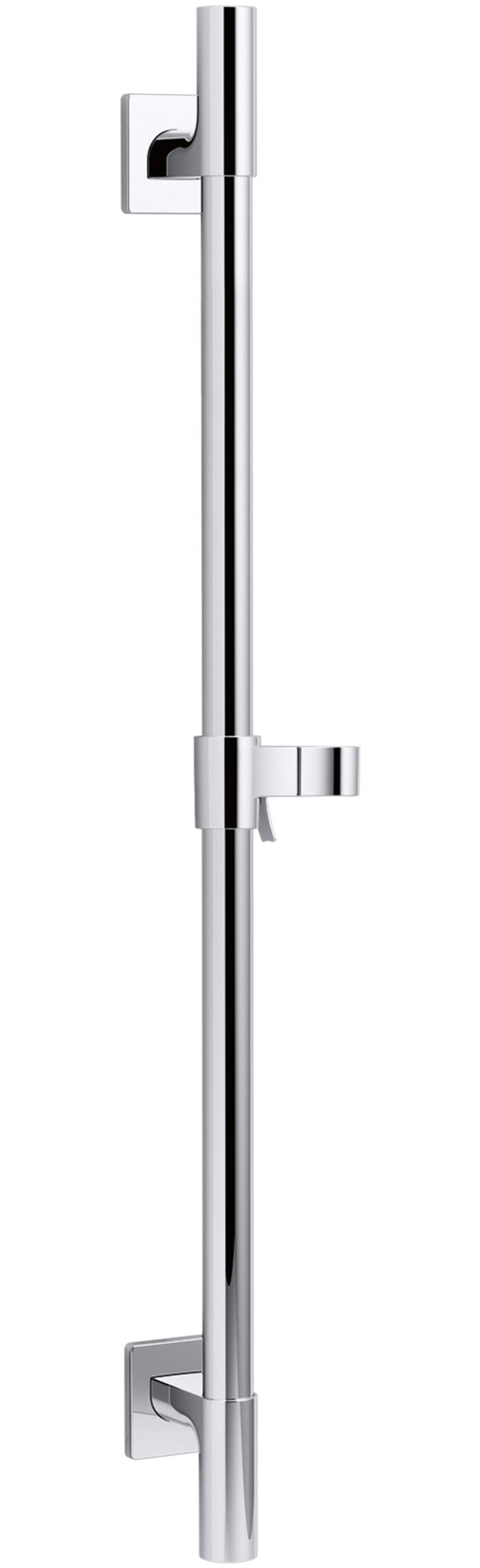 KOHLER K-98342-CP Awaken Deluxe 24-Inch Slide Bar, Polished Chrome