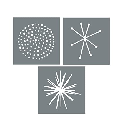Exceptionnel Large Starburst Wall Art Stencils U2013 Set Of 3 Reusable Stencils For Walls Or  Furniture U2013