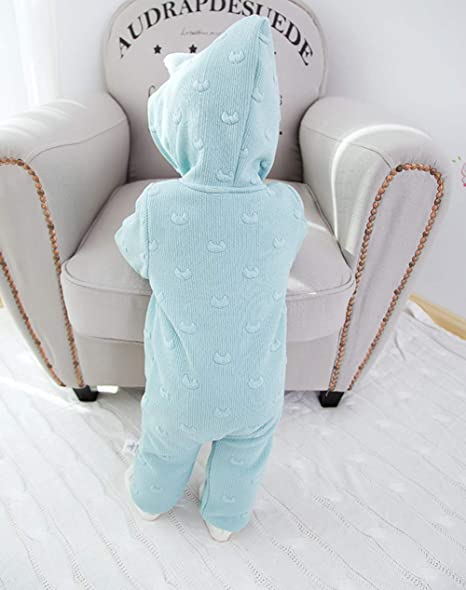 5323df211 Amazon.com  Fairy Baby Toddler Boy Girls Hooded Romper Warm Thick ...