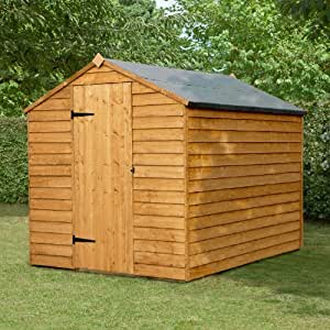 8x6 Price Saver Overlap Apex Wooden Shed