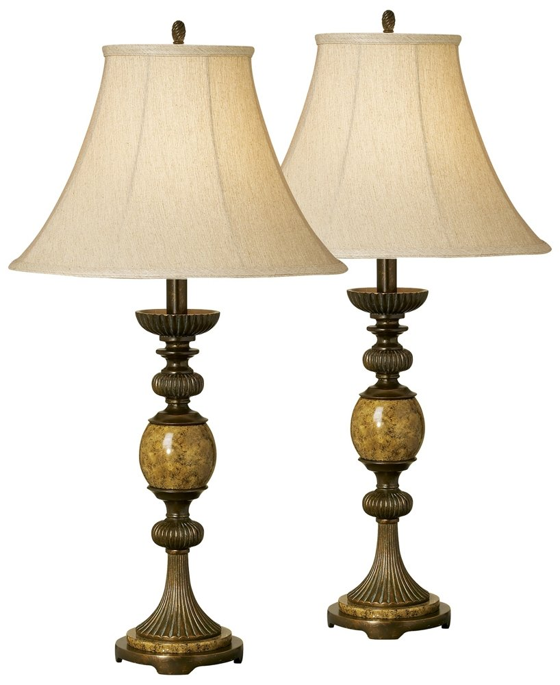 Set of Two Kathy Ireland Riviera Faux Marble Table L&s - Household L& Sets - Amazon.com  sc 1 st  Amazon.com & Set of Two Kathy Ireland Riviera Faux Marble Table Lamps - Household ...