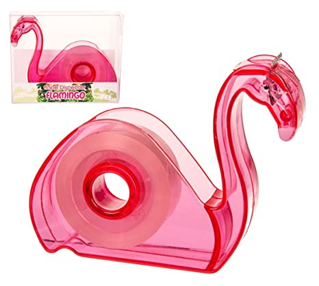 Dispensador de cinta con cinta adhesiva, flamenco - Tape dispenser flamingo