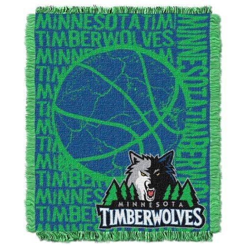 Northwest 019 NBA Minnesota Timberwolves 48 x 60-Inch Double Play Jacquard Triple Woven Throw
