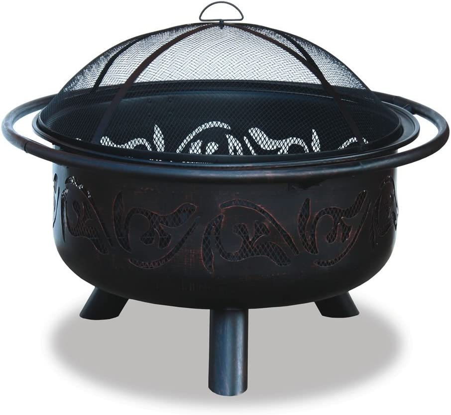 Endless Summer, WAD900SP, Oil Rubbed Outdoor Firebowl with Swirl Design