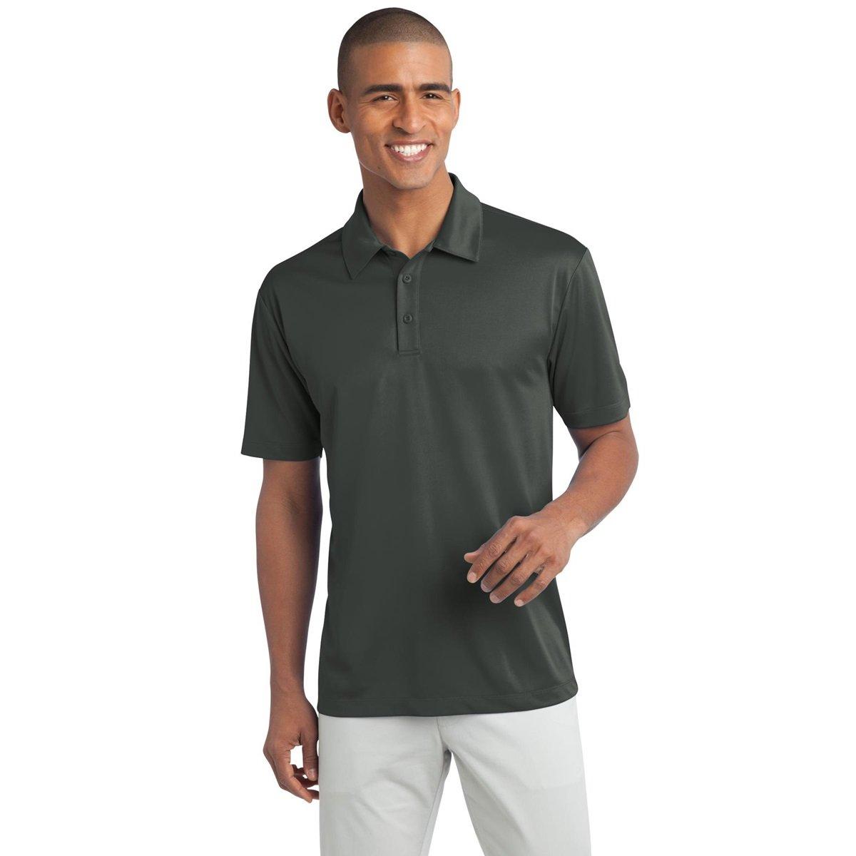 Mens Big /& Tall Short Sleeve Moisture Wicking Silk Touch Polo Shirt Clothe Co