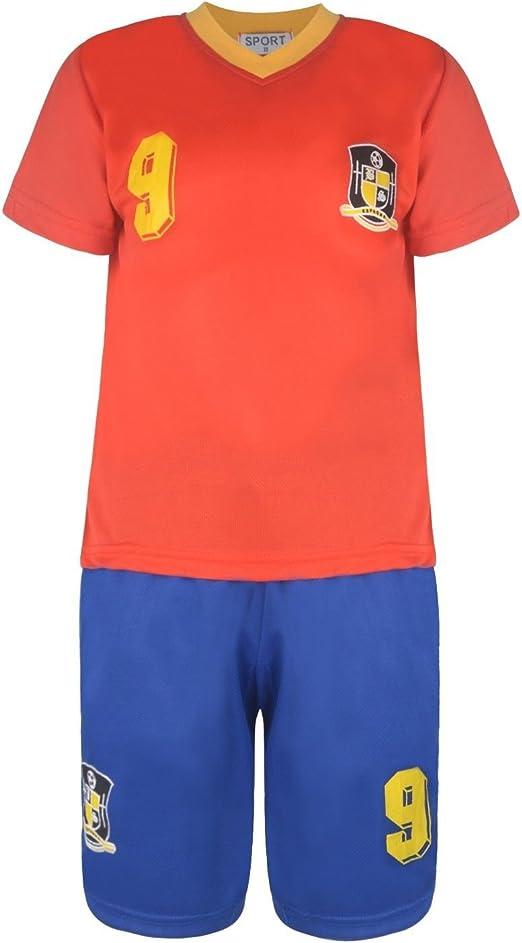 BOYS FOOTBALL KIT SHORT SET MILAN RED//BLACK 2-10years BNWT #MILAN