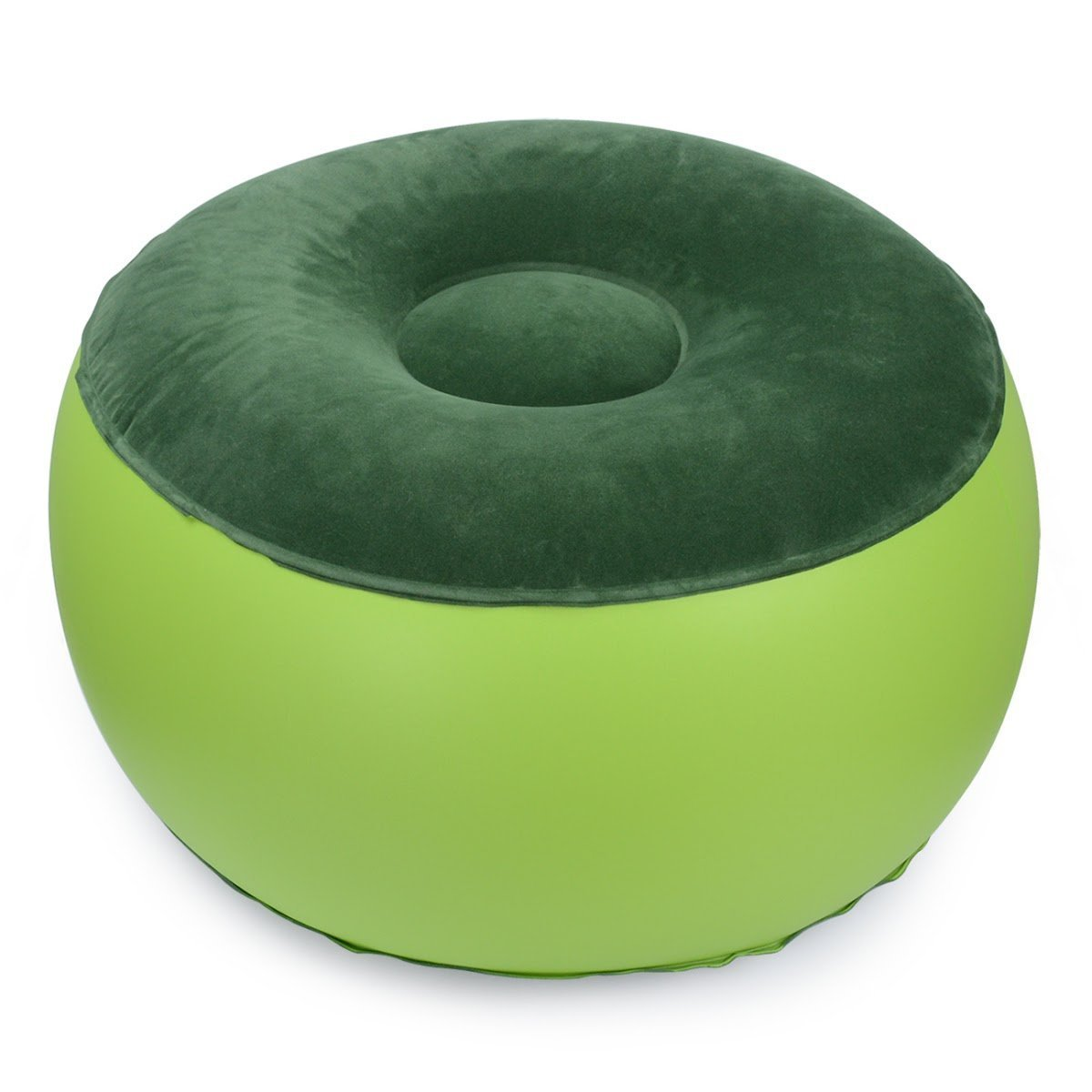 Air Chair Durable Balance Portable Outdoor Camping Chair Inflatable Stool footrest Cushion For Home Office Yoga(Green) Chuangbo