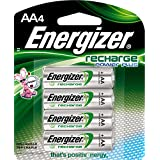Energizer NH15BP4 New Recharge Batteries, AA, 4-Count