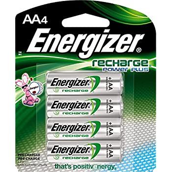 37e023f0615e5b Energizer Recharge Power Plus AA 2300 mAh Rechargeable Batteries,  Pre-Charged, 4 count