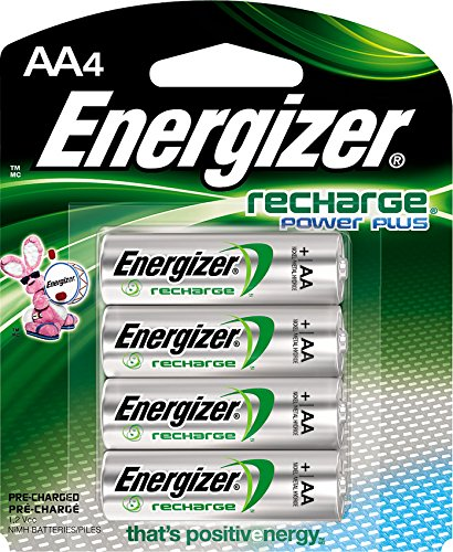 Energizer Recharge Power Plus AA 2300 mAh Rechargeable Batteries, Pre-Charged, 4 count (NH15BP4) ()
