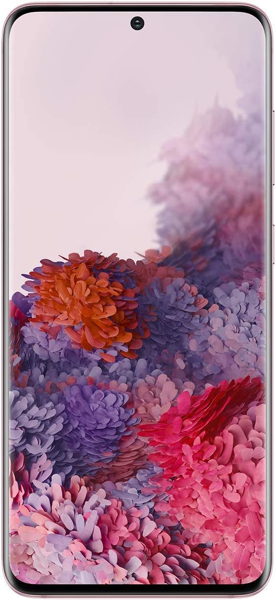 Samsung Galaxy S20 5G Factory Unlocked New Android Cell Phone US Version | 128GB of Storage | Fingerprint ID and Facial Recognition | Long-Lasting Battery | US Warranty | Cloud Pink