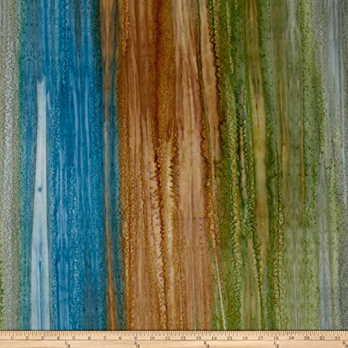 (Robert Kaufman 0469893 Artisan Batiks Patina Handpaints Stripes Fabric by The Yard, Russet)