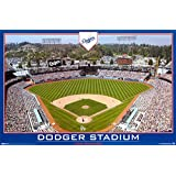 Dodger Stadium Gameday Poster - Los Angeles Dodgers Baseball Poster Print, 34x22