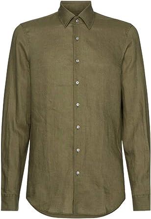 Calvin Klein K10K105388 RAA - Camisa para hombre, verde militar 43: Amazon.es: Ropa y accesorios