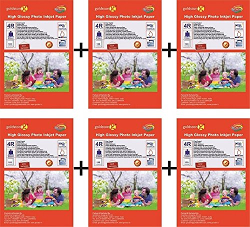 GoColor High Glossy Inkjet Photo Paper 210Gsm 4R  4 quot;x6 quot;  Size  600 Sheets Packs