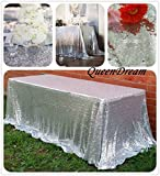 QueenDream Silver sequined tablecloth 50