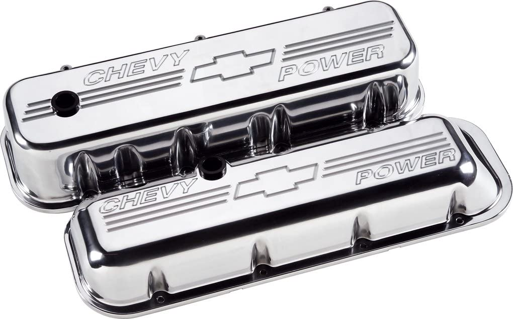 BILLET SPECIALTIES 96123 BBC Valve Covers Chevy Logo Tall