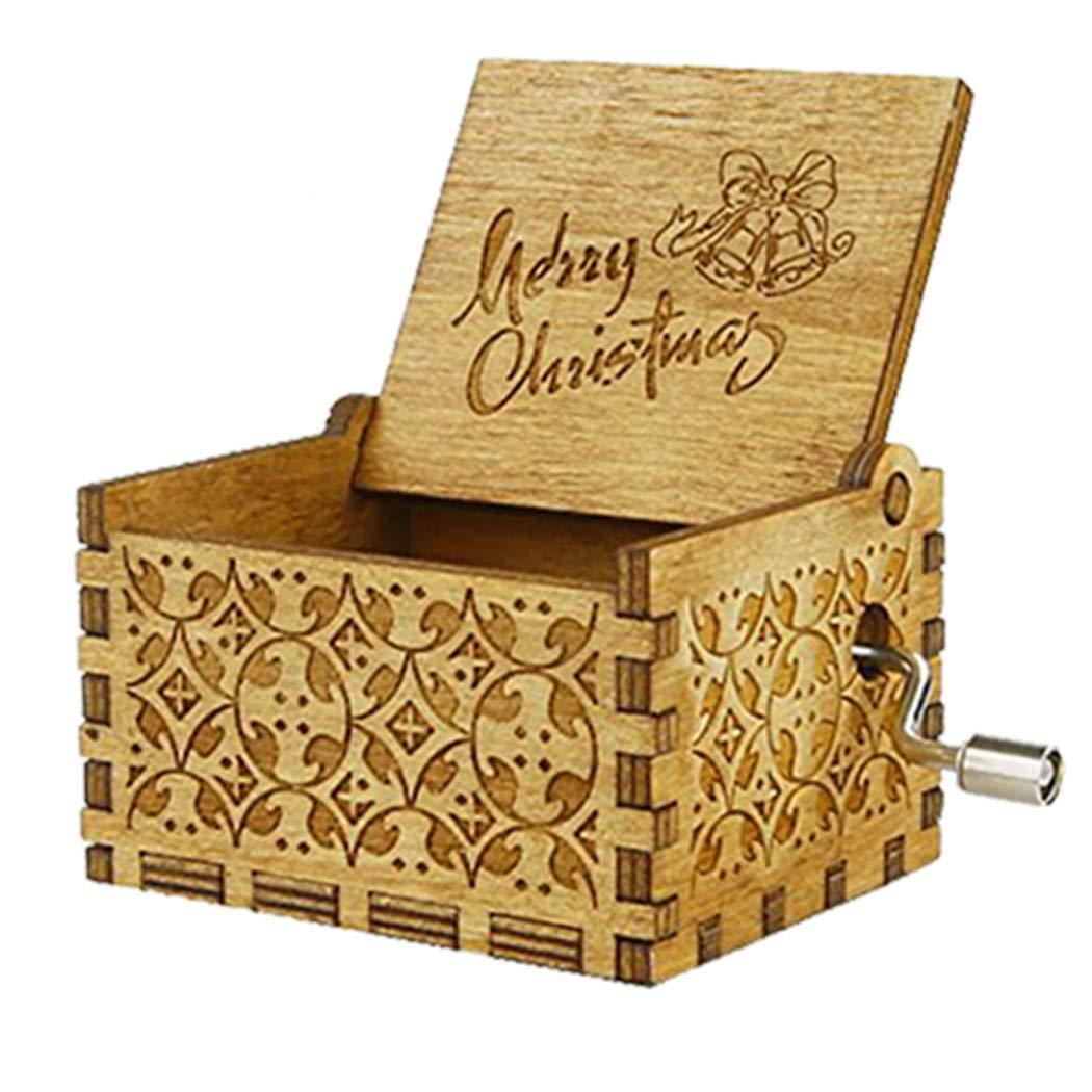 超爆安  B07KRDDX4HMINSOTOメリークリスマス木製ハンドクランクオルゴールクラシックヴィトラージュウッドハンドオルゴールテーマオルゴール最高の贈り物キッズ、友達 B07KRDDX4H, スソノシ:80155ff5 --- arcego.dominiotemporario.com