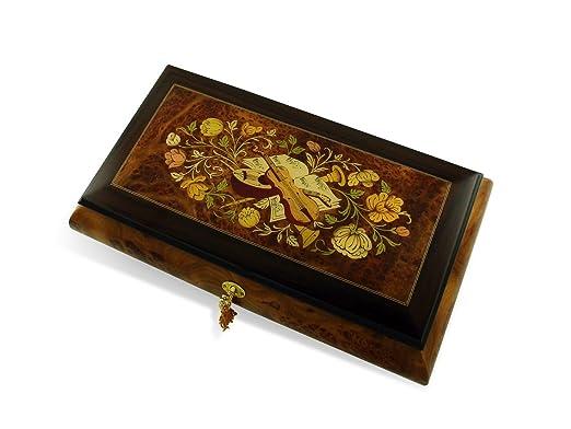 Lujo 22 Nota Grand instrumento musical y flores música joyas caja ...