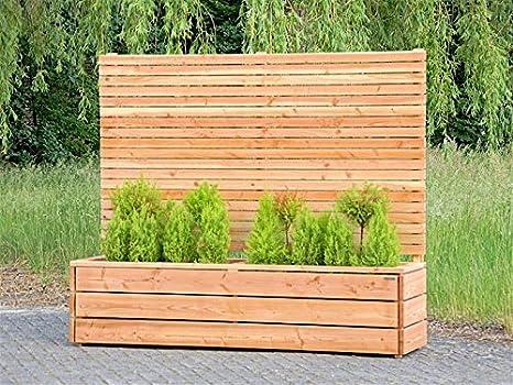 Pflanzkübel Holz Lang Mit Sichtschutz Transparent Geölt Natur