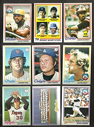 1978 TOPPS BASEBALL COMPLETE SET 726 CARDS HIGH GRADE SHARP CORNERS FROM (Grade Baseball Cards)