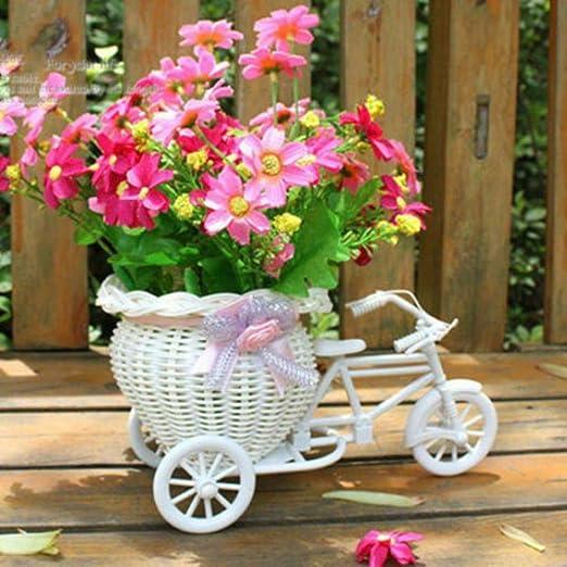 babyzhang Cesta de Flores Decorativa para Bicicleta Triciclo de ...