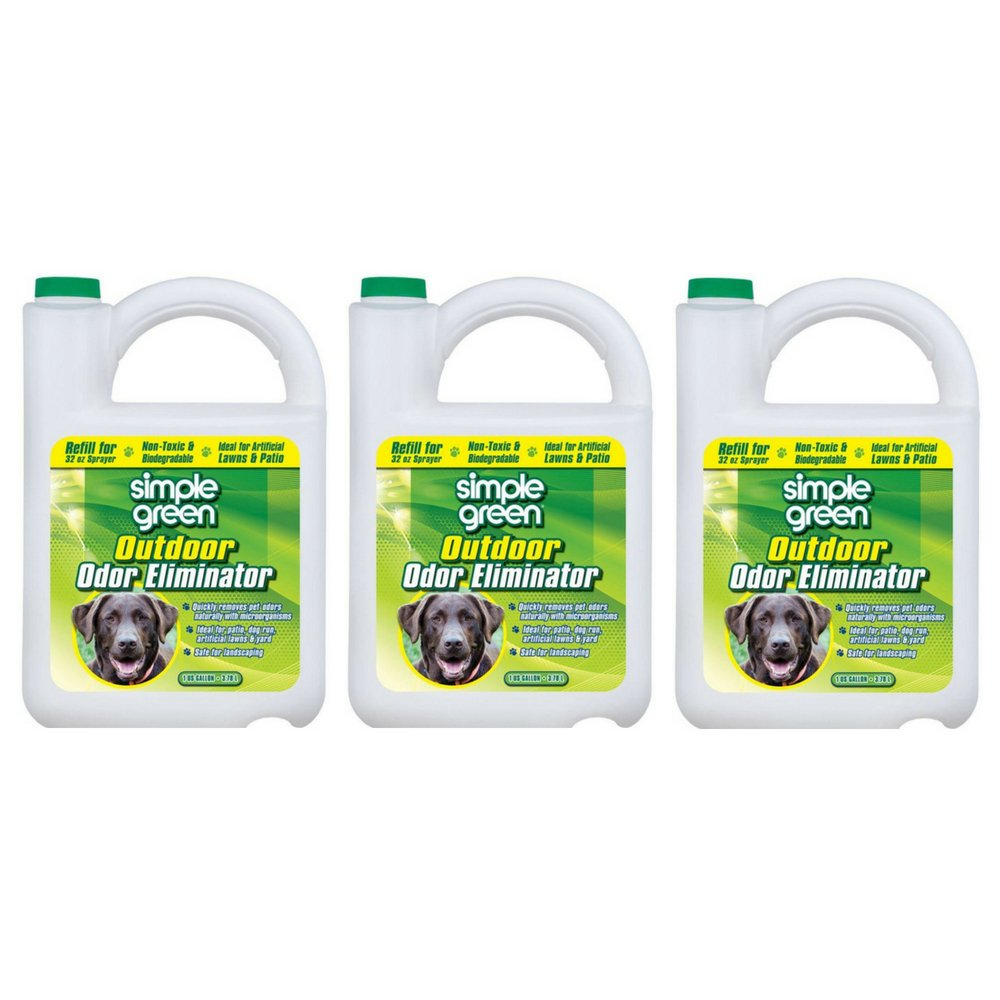 SIMPLE GREEN 432108 Outdoor Odor Eliminator for Dogs, 1 Gallon (3 PACK)