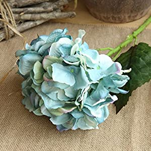 YLCOYO Flowers, Artificial Silk Fake Flowers Peony Floral Wedding Bouquet Bridal Hydrangea Decor (C) 2