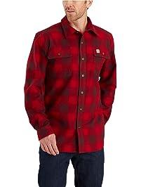 Carhartt Mens Hubbard Flannel Long Sleeve Shirt (Regular and Big & Tall Sizes) Shirt