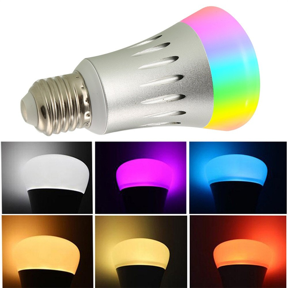 7W RGB Smart WiFi Bulb Color Changing Smart LED Light Dimmable Multicolored