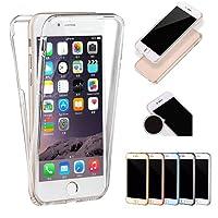 Sycode - Funda de 360 grados para iPhone 6S/6, funda de cuerpo completo para iPhone 6, diseño de color degradado a la moda. Frente y parte posterior de gel de silicona TPU transparente. Protector de goma ultrafino a prueba de golpes. Funda transparente para iPhone 6S/6.