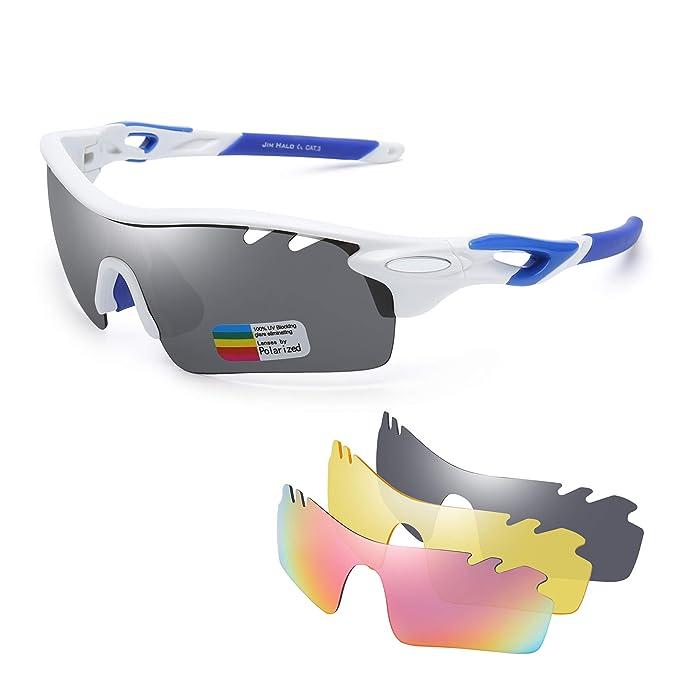 Jim Halo Polarizadas Deporte Gafas de Sol Para Hombre Mujer UV400 Protección Ciclismo Correr Pescar Anteojos