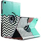 iPad Air Case,ULAK 360 Degrees Rotating Stand Case Cover for Apple iPad Air / iPad 5 (2013 Release) With Automatic Wake/Sleep Function (FOLLOW THE SKY)