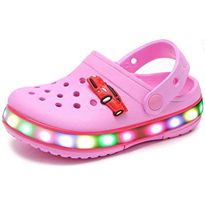 Children Boys Girls LED Clog Flash Lighted Summer Beach Shoes Walking Slippers Unisex Sandal Animals Shoe