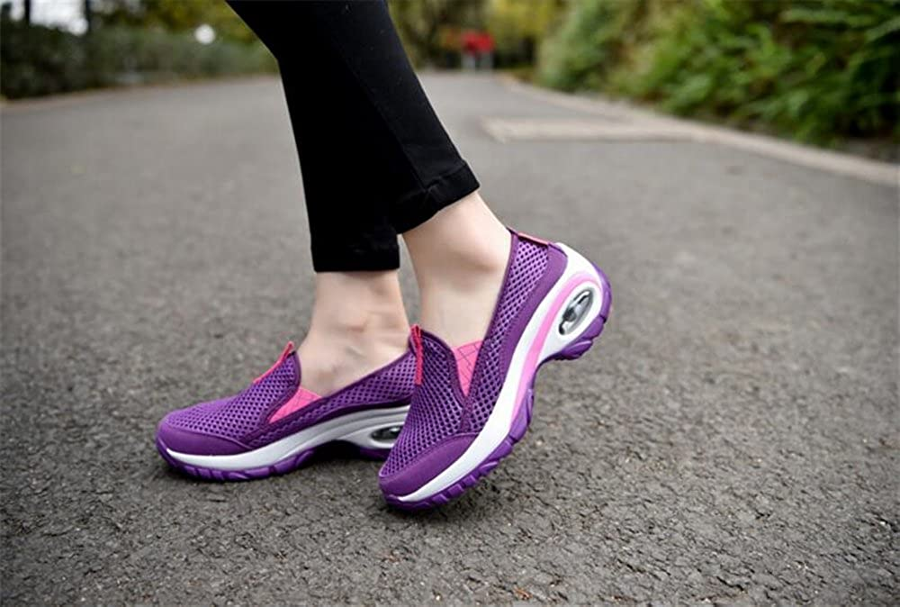 SUNNY Store Womens Athletic Shoes Casual Mesh Walking Sneakers-Breathable Running Shoes