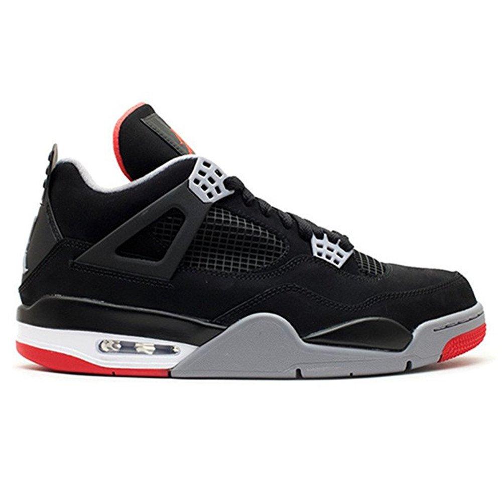 buy online dad72 c0f6d J0RDAN men s Air Jordan 4 Retro 308497 089 black cement grey fire red Size  9  Amazon.ca  Shoes   Handbags