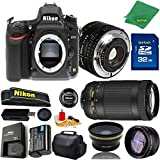 Great Value Bundle for D750 DSLR – 50MM 1.8D + 70-300MM AF-P + 32GB Memory + Wide Angle + Telephoto Lens + Case